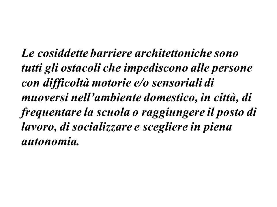 Piano di abbattimento di barriere architettoniche Legge 28 febbraio 1986, n.