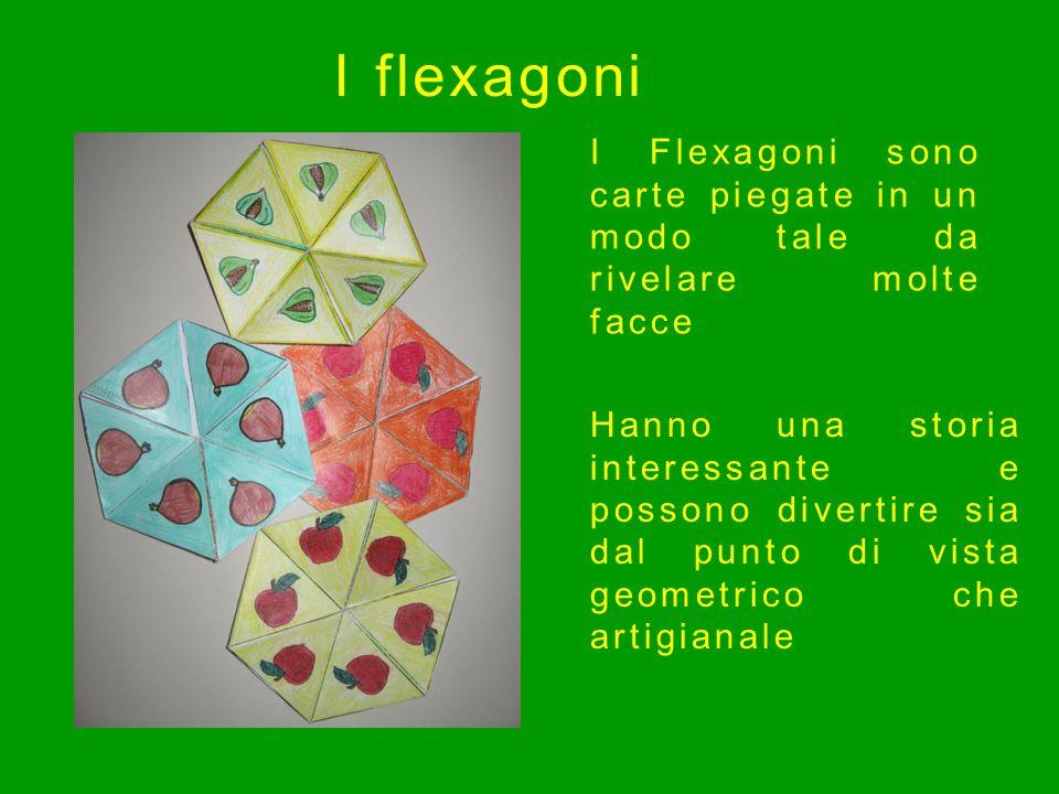 I Flexagoni sono carte piegate in un modo tale da rivelare molte facce Hanno una storia interessante e possono divertire sia dal punto di vista geomet