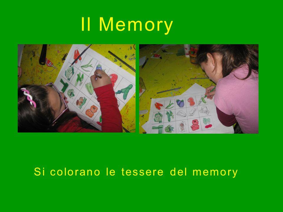 Il Memory Si colorano le tessere del memory