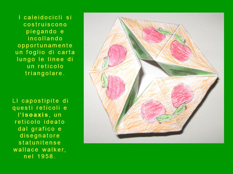 I caleidocicli si costruiscono piegando e incollando opportunamente un foglio di carta lungo le linee di un reticolo triangolare. Ll capostipite di qu