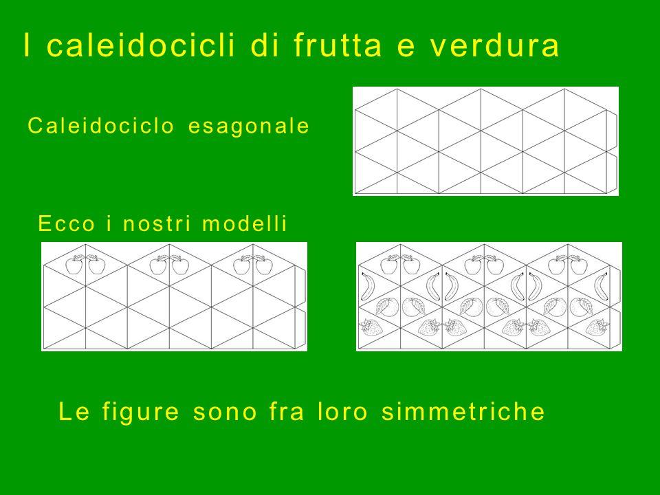 Ecco i nostri modelli I caleidocicli di frutta e verdura Caleidociclo esagonale Le figure sono fra loro simmetriche