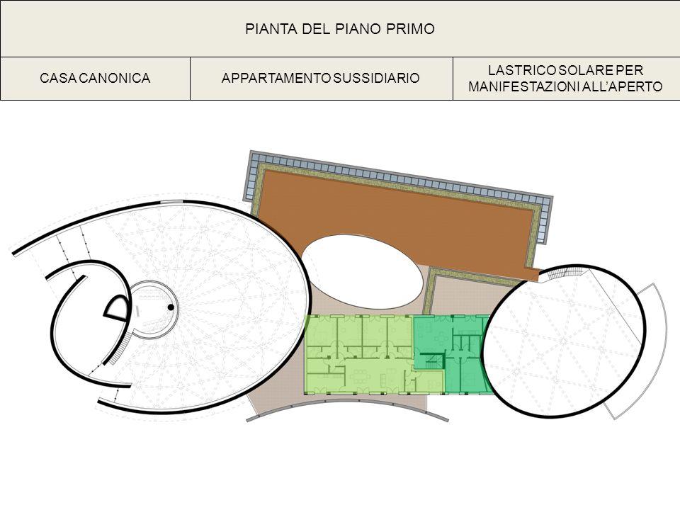 PIANTA DEL PIANO PRIMO CASA CANONICAAPPARTAMENTO SUSSIDIARIO LASTRICO SOLARE PER MANIFESTAZIONI ALLAPERTO