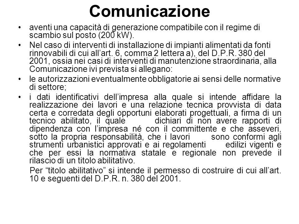 1.2 Procedura Abilitativa Semplificata (P.A.S.) Sono realizzabili mediante Procedura Abilitativa Semplificata gli impianti non ricadenti fra quelli assoggettabili a semplice comunicazione aventi tutte le seguenti caratteristiche (ai sensi dellart.