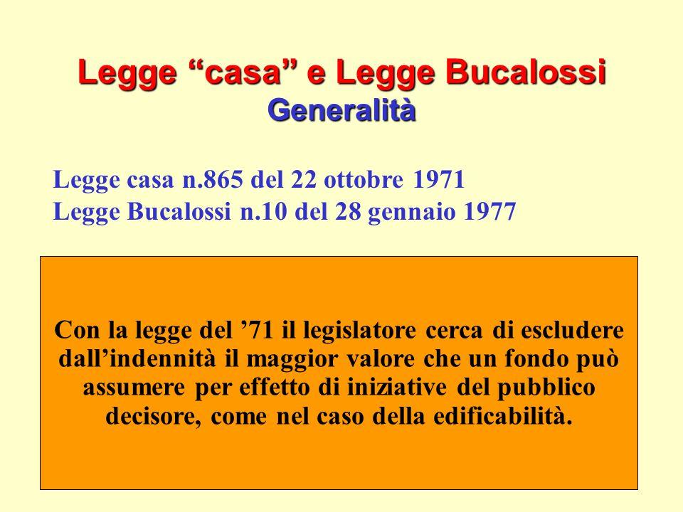 20 Legge casa e Legge Bucalossi Generalità Legge casa n.865 del 22 ottobre 1971 Legge Bucalossi n.10 del 28 gennaio 1977 Quadro normativo definito in