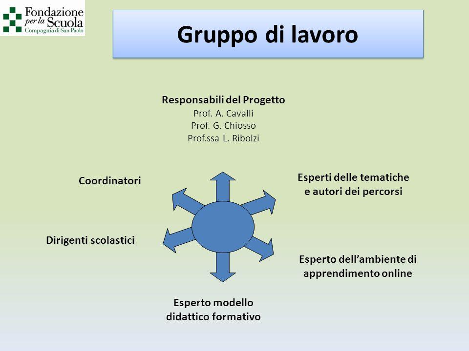 Responsabili del Progetto Prof.A. Cavalli Prof. G.