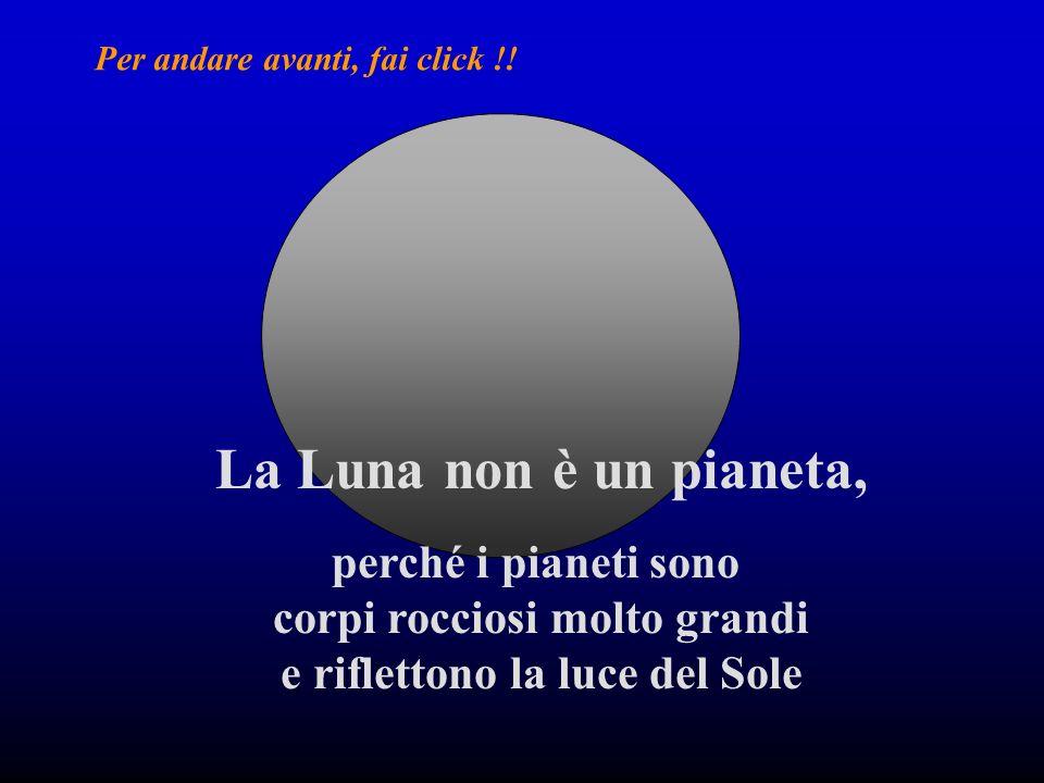 La Luna non è una stella, perché le stelle sono grandissime sfere di gas che brillano di luce propria.