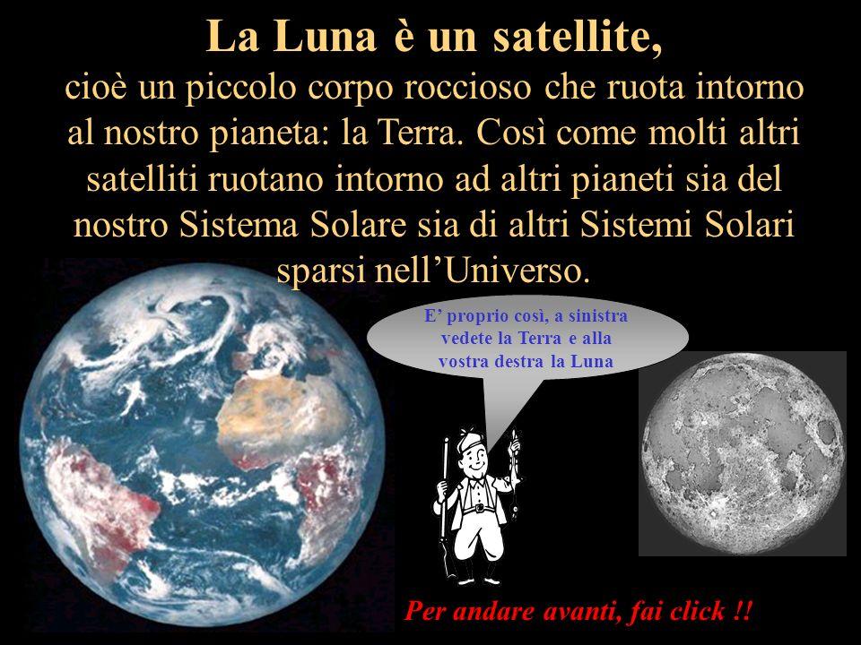 La Luna non è un pianeta, perché i pianeti sono corpi rocciosi molto grandi e riflettono la luce del Sole Per andare avanti, fai click !!