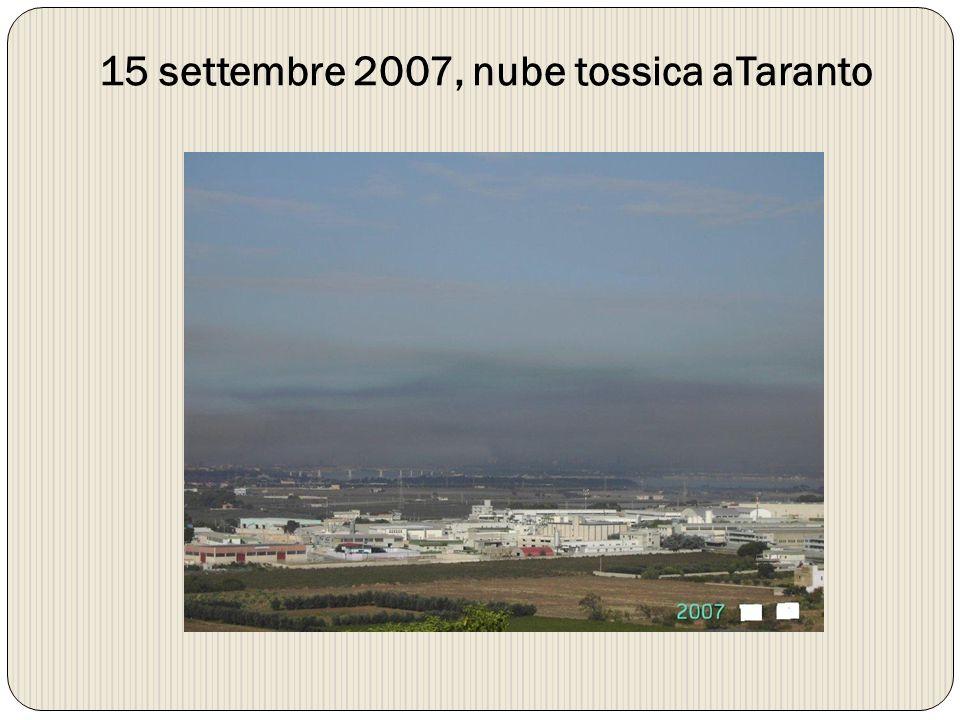15 settembre 2007, nube tossica aTaranto