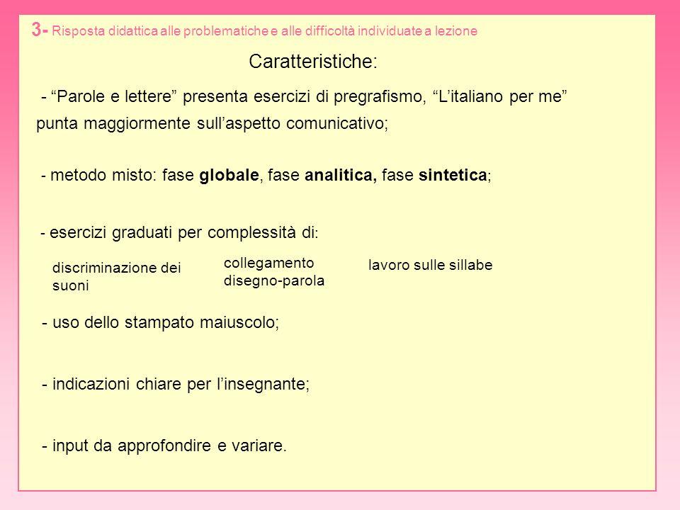 Parole e lettere, pp.28, 29, 31Litaliano per me, pp.