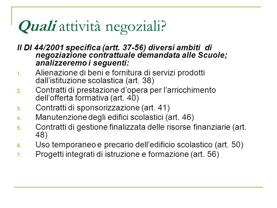 1.Vendere beni e servizi D.M. 44/2001 Art.