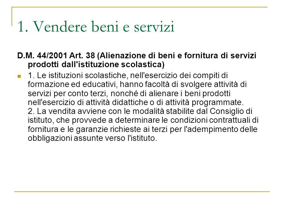 2.Gli esperti esterni: la normativa D.M. 44/2001 Art.