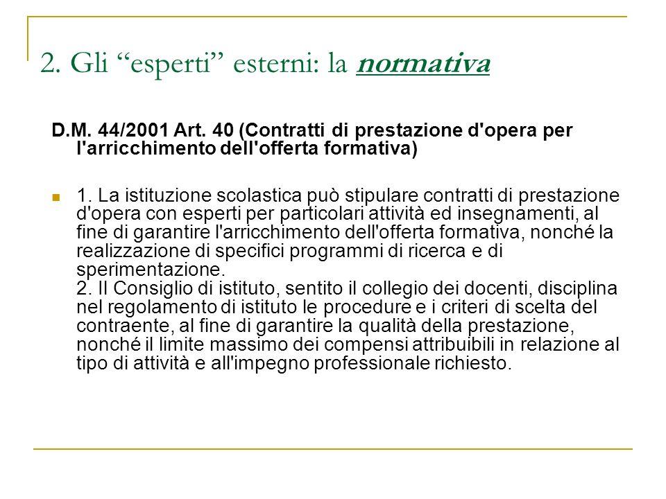Esperti esterni: la normativa (2): Legge 133/2008 - Art.