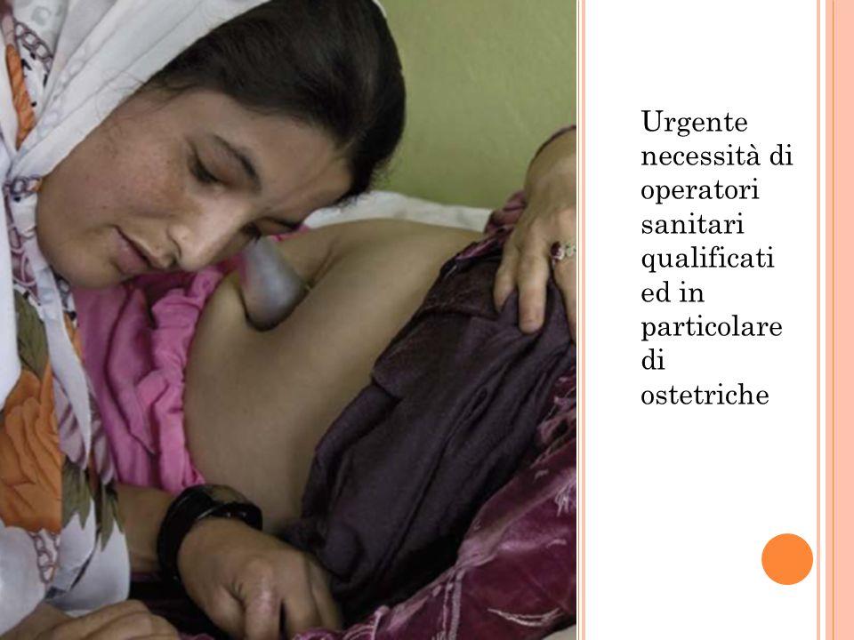 Urgente necessità di operatori sanitari qualificati ed in particolare di ostetriche