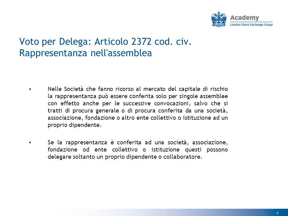 4 Voto per Delega: Articolo 2372 cod.civ.