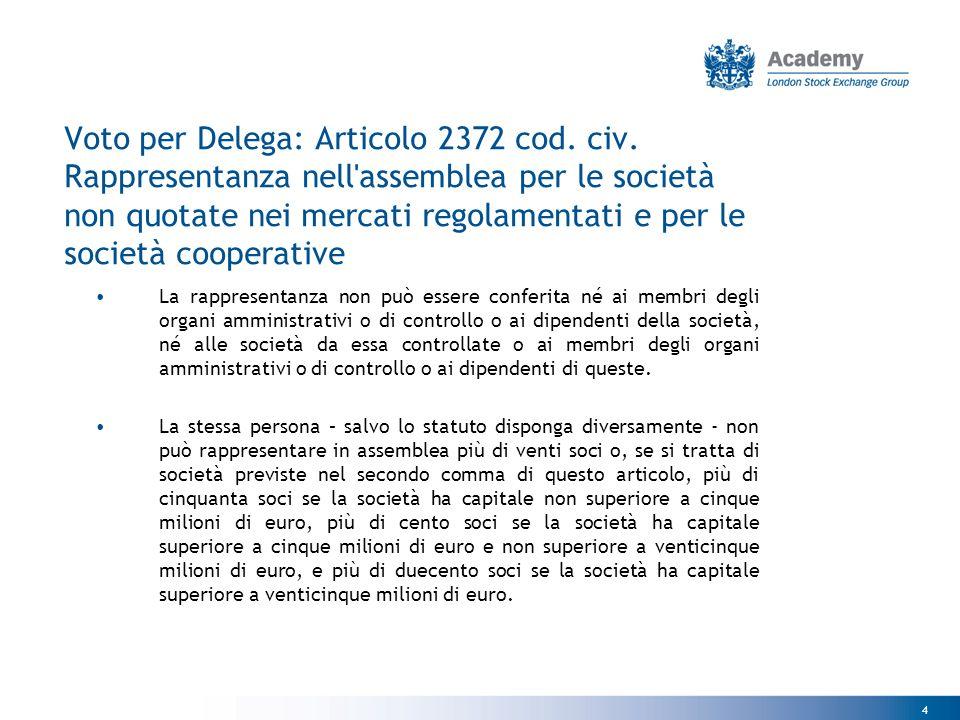 4 Voto per Delega: Articolo 2372 cod. civ.