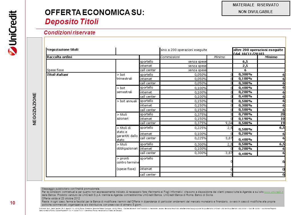 MATERIALE RISERVATO NON DIVULGABILE UniCredit S.p.A. Sede Sociale Via A. Specchi 16 - 00186 Roma; Direzione Generale Piazza Cordusio - 20123 Milano -