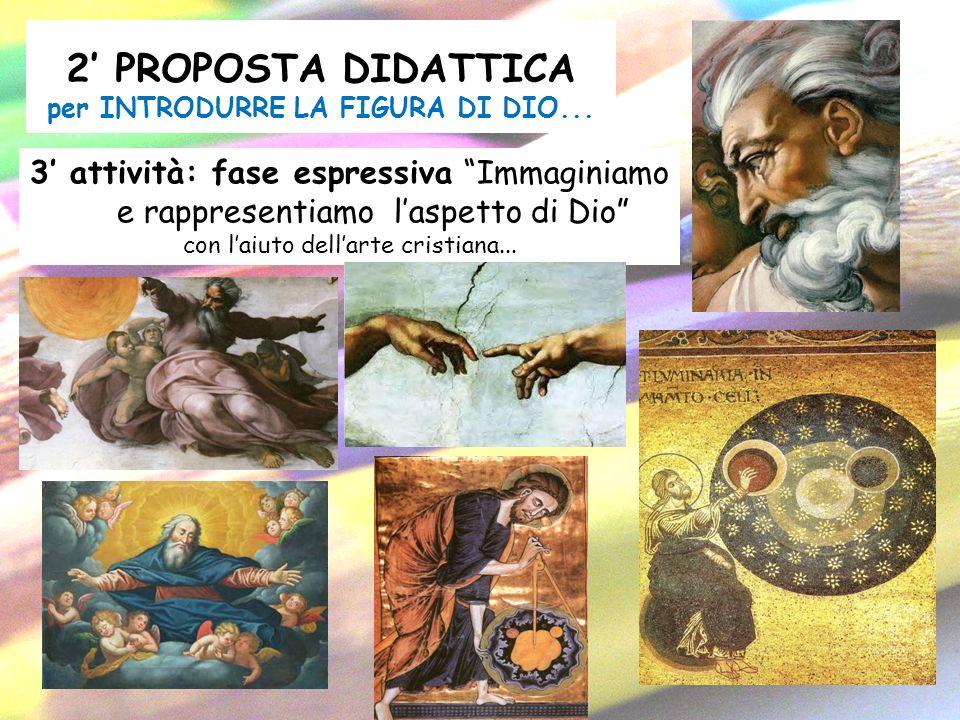 2 PROPOSTA DIDATTICA per INTRODURRE LA FIGURA DI DIO... 3 attività: fase espressiva Immaginiamo e rappresentiamo laspetto di Dio con laiuto dellarte c