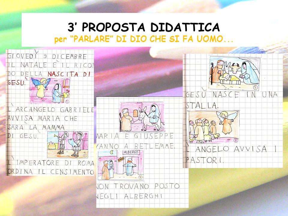 3 PROPOSTA DIDATTICA per PARLARE DI DIO CHE SI FA UOMO...