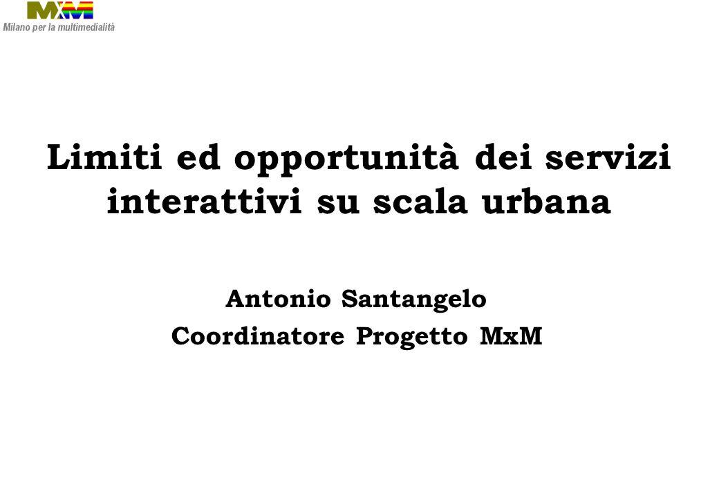 MxM: un progetto per Milano Iniziativa di AIM (Associazione Interessi Metropolitani) Nata nel 1996 Obiettivo: favorire lo sviluppo di iniziative finalizzate alla costruzione della società dellinformazione a Milano.