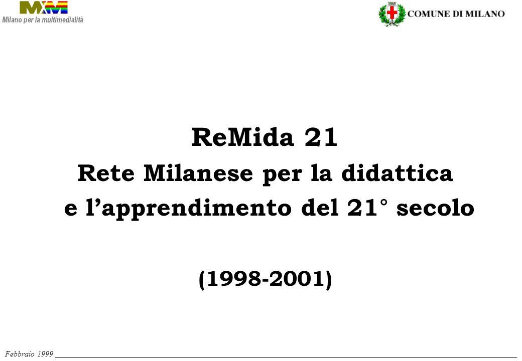 ReMida 21 Rete Milanese per la didattica e lapprendimento del 21° secolo (1998-2001) Febbraio 1999 ___________________________________________________