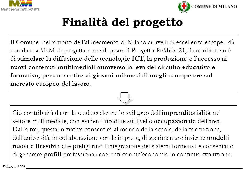 Il Comune, nellambito dellallineamento di Milano ai livelli di eccellenza europei, dà mandato a MxM di progettare e sviluppare il Progetto ReMida 21,
