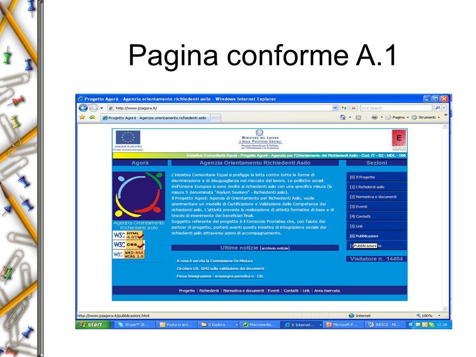Pagina conforme A.1