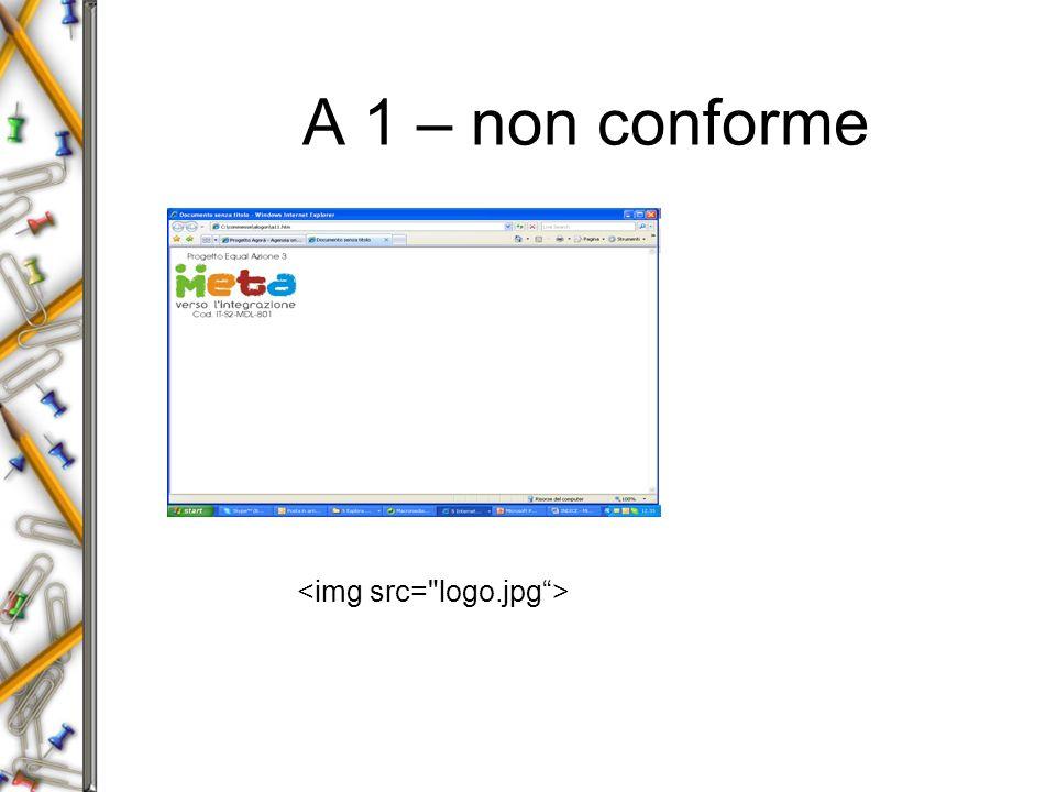 A 1 – non conforme