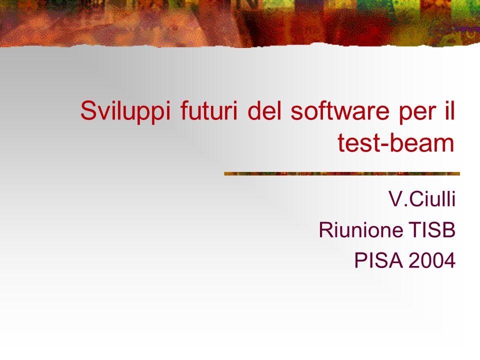 Sviluppi futuri del software per il test-beam V.Ciulli Riunione TISB PISA 2004