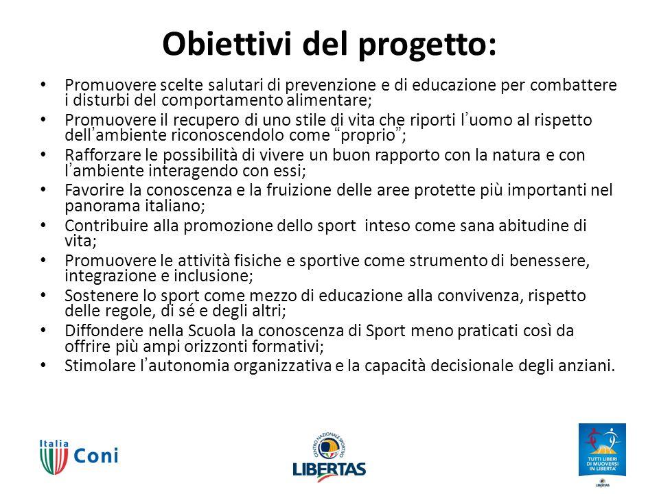 Obiettivi del progetto: Promuovere scelte salutari di prevenzione e di educazione per combattere i disturbi del comportamento alimentare; Promuovere i