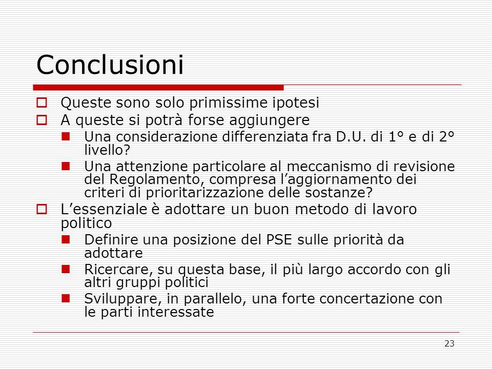 23 Conclusioni Queste sono solo primissime ipotesi A queste si potrà forse aggiungere Una considerazione differenziata fra D.U. di 1° e di 2° livello?