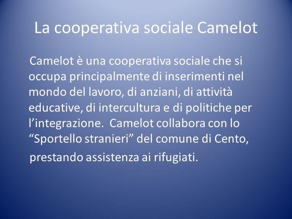 La cooperativa sociale Camelot Camelot è una cooperativa sociale che si occupa principalmente di inserimenti nel mondo del lavoro, di anziani, di atti