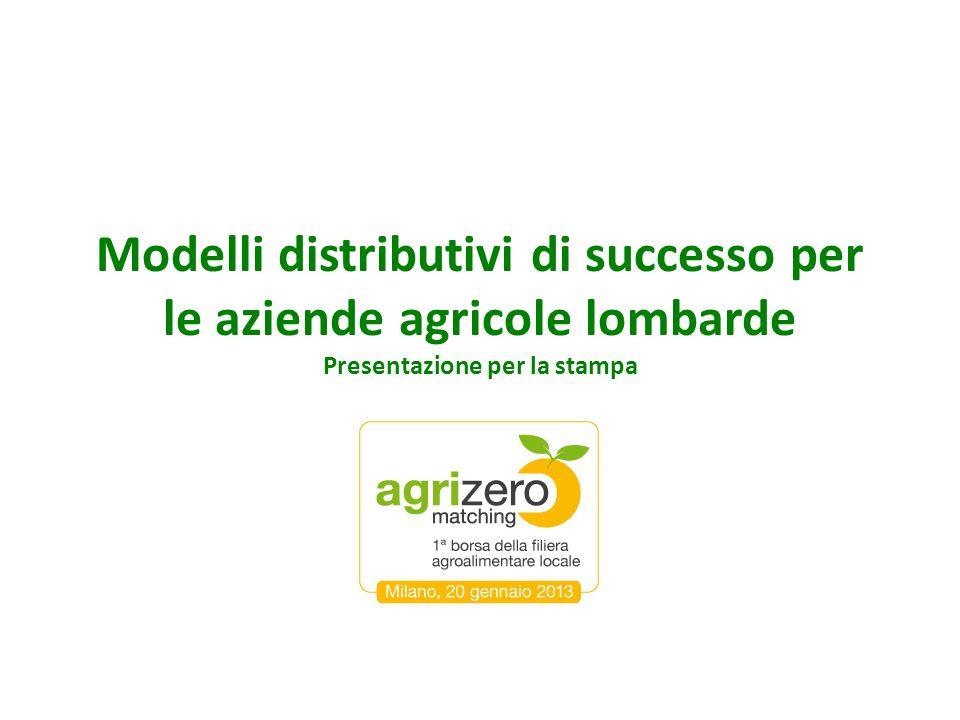Modelli distributivi di successo per le aziende agricole lombarde Presentazione per la stampa