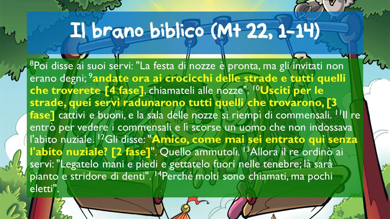 Il brano biblico (Mt 22, 1-14) 8 Poi disse ai suoi servi: