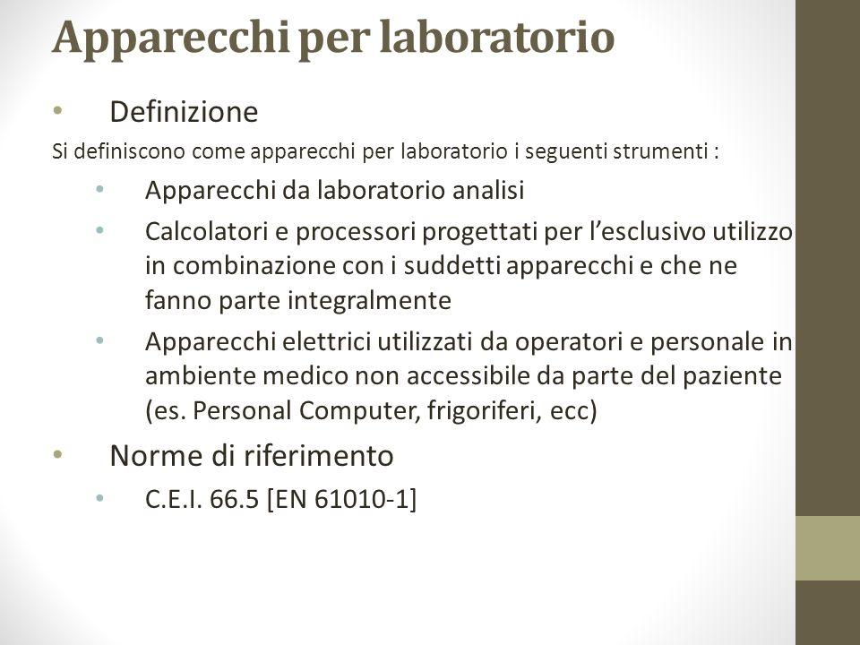 Apparecchi per laboratorio Definizione Si definiscono come apparecchi per laboratorio i seguenti strumenti : Apparecchi da laboratorio analisi Calcola