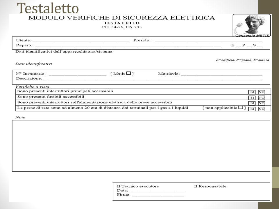 Sistemi di Elettromedicali Misure e verifiche (1/4) Quanto descritto di seguito è aggiuntivo alla norma CEI 62-5.