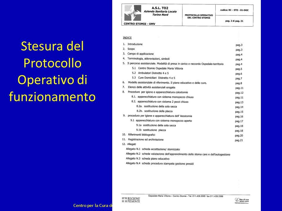 Stesura del Protocollo Operativo di funzionamento Centro per la Cura delle Stomie - Ambulatorio a gestione infermieristica