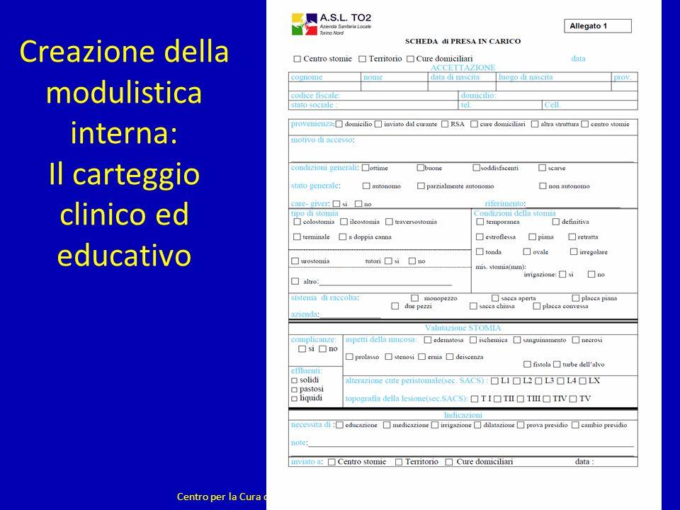 Creazione della modulistica interna: Il carteggio clinico ed educativo Centro per la Cura delle Stomie - Ambulatorio a gestione infermieristica