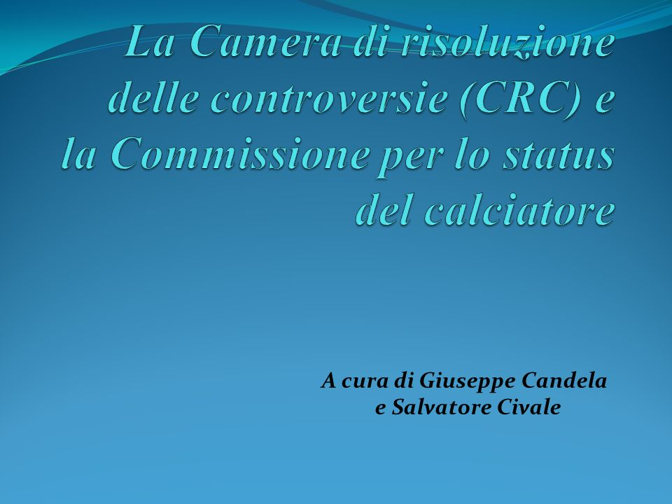 A cura di Giuseppe Candela e Salvatore Civale