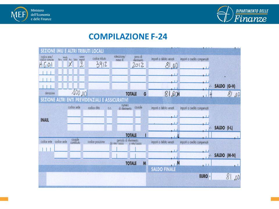 COMPILAZIONE F-24 24