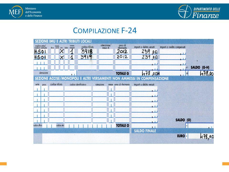 C OMPILAZIONE F-24 47