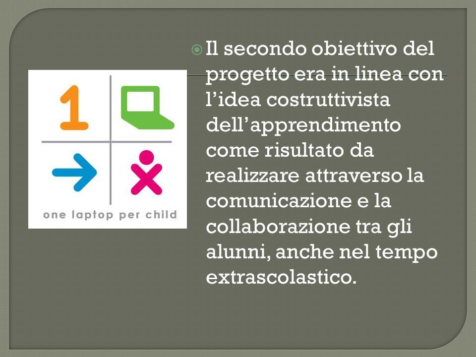 Il secondo obiettivo del progetto era in linea con lidea costruttivista dellapprendimento come risultato da realizzare attraverso la comunicazione e l