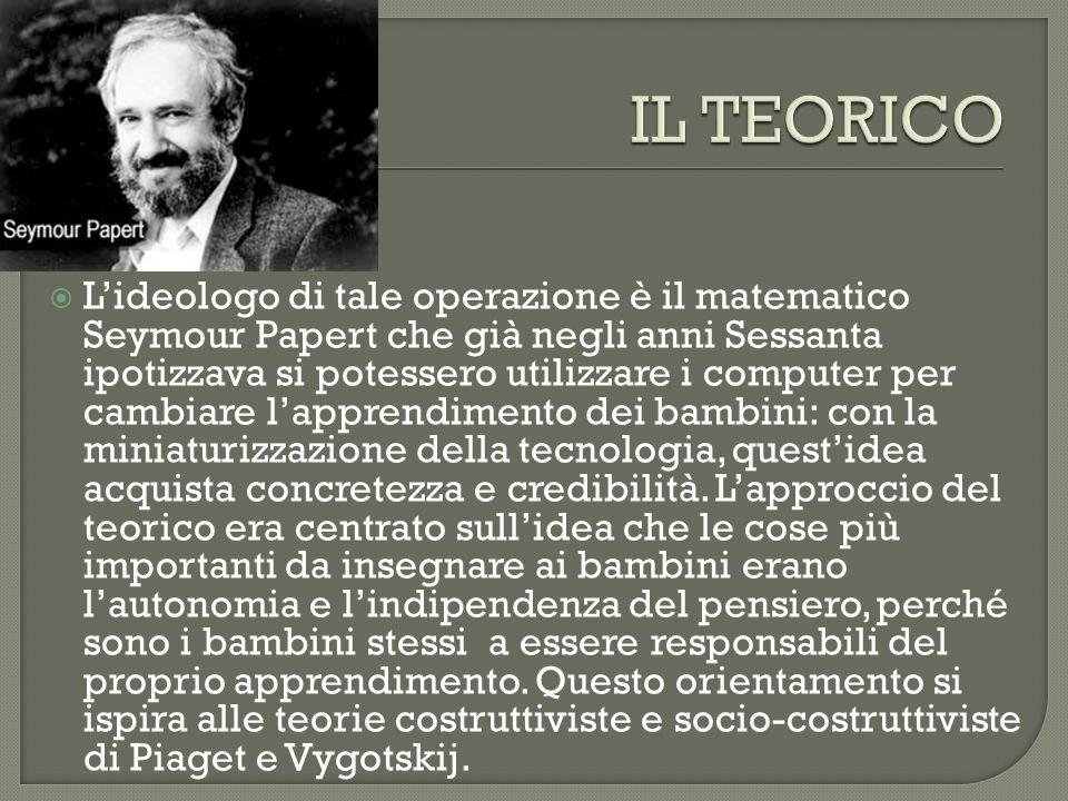 Lideologo di tale operazione è il matematico Seymour Papert che già negli anni Sessanta ipotizzava si potessero utilizzare i computer per cambiare lap