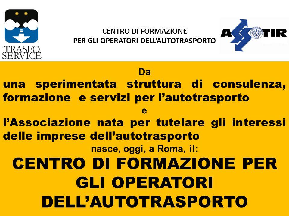 Con questa iniziativa ci proponiamo di: VENIRE INCONTRO AI BISOGNI delle imprese di autotrasporto, COPRIRE TUTTA LA GAMMA DELLA FORMAZIONE, nellambito territoriale della Provincia di Roma, PUNTARE SULLA QUALITÀ DEL SERVIZIO E SUL CONTENIMENTO DEI COSTI.