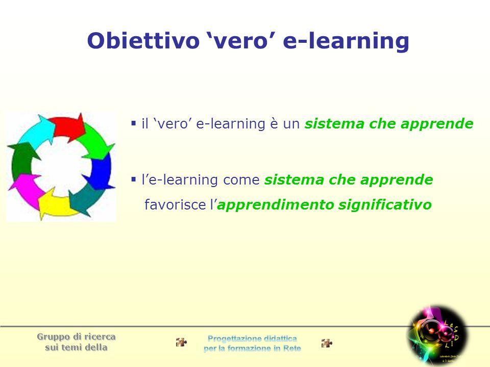 Gruppo di ricerca sui temi della Denominamo i-learning il vero e-learning.