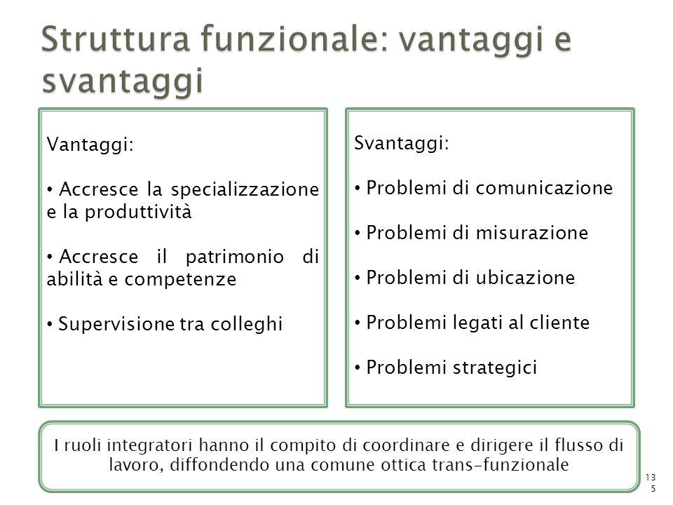 . Svantaggi: Problemi di comunicazione Problemi di misurazione Problemi di ubicazione Problemi legati al cliente Problemi strategici Vantaggi: Accresc