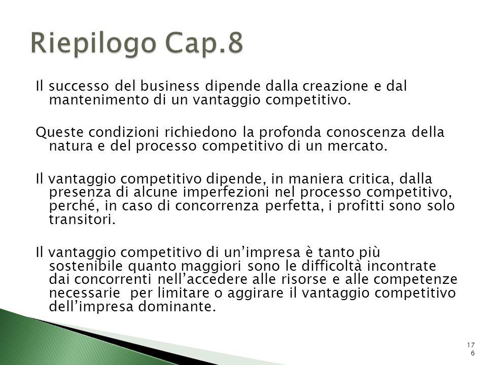 Il successo del business dipende dalla creazione e dal mantenimento di un vantaggio competitivo. Queste condizioni richiedono la profonda conoscenza d