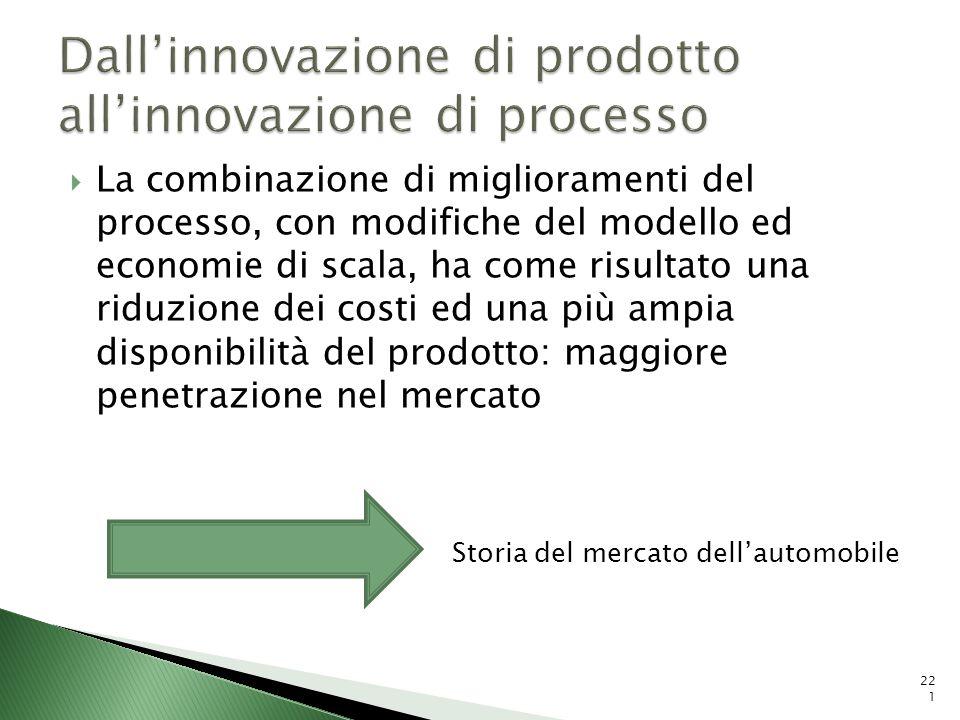 La combinazione di miglioramenti del processo, con modifiche del modello ed economie di scala, ha come risultato una riduzione dei costi ed una più am