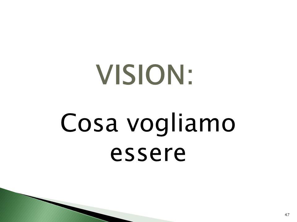 47 VISION: Cosa vogliamo essere