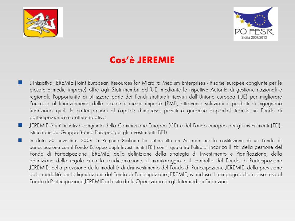 JEREMIE FSE REGIONE SICILIANA JEREMIE HOLDING FUND FESR SICILIA