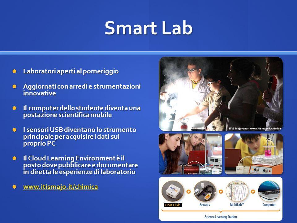 USB Link Smart Lab Laboratori aperti al pomeriggio Laboratori aperti al pomeriggio Aggiornati con arredi e strumentazioni innovative Aggiornati con ar